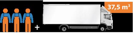 Stěhování firmy - náklaďák + 3 pracovníci